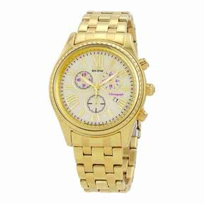 Citizen Chronograph Champagne Dial Gold-Tone Stainless Steel Ladies Watch FB1362-59P