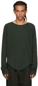 Haider Ackermann Green Long Sleeve Ribbed T-Shirt