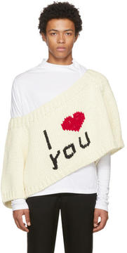 Raf Simons Off-White I Love You Blow Up Raglan Sweater