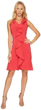 Christin Michaels Sloan Sleeveless Dress with Ruffle Women's Dress
