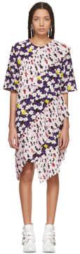 Kenzo Multicolor Ruffled Tee Dress