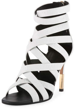 Balmain Charlotte Strappy Leather Sandal