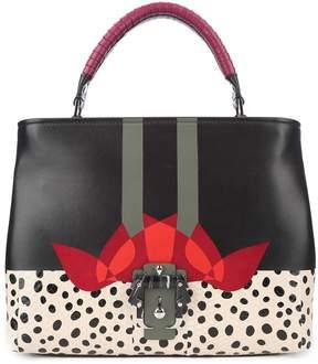 Paula Cademartori 'mae Love' Snakeskin And Leather Shoulder Bag