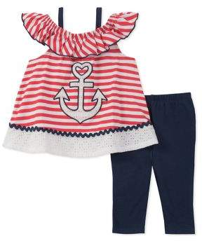Kids Headquarters Little Girl's Two-Piece Tunic and Leggings Set