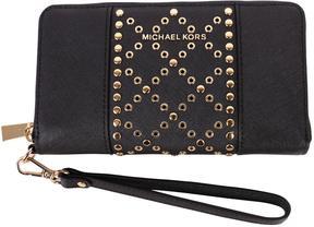 MICHAEL Michael Kors Saffiano Leather Wallet - BLACK - STYLE