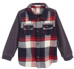 Tucker + Tate Infant Boy's Mixed Media Plaid Shirt
