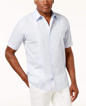 Cubavera Men's Inset Pleated-Panel Shirt
