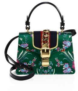 Gucci Mini Sylvie Floral Jacquard Top Handle Bag - RED - STYLE
