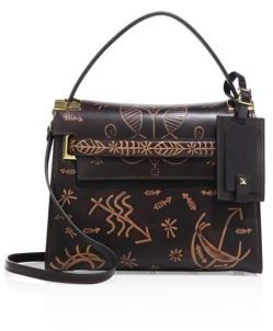VALENTINO GARAVANI My Rockstud Small Embossed Leather Top-Handle Satchel