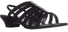 Karen Scott Ks35 Estevee Strappy Slingback Sandals, Black.