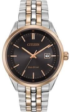 Citizen Men's Bracelet BM7256-50E Silver/Rose Gold Eco-Drive Men's Watch