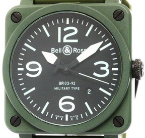 Bell & Ross Military Type BR03-92 Ceramic Rubber Automatic 42mm Mens Watch