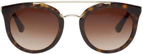 Prada Tortoiseshell Pantos Sunglasses