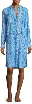 Melissa Odabash Women's Lois Printed Button Front Dress