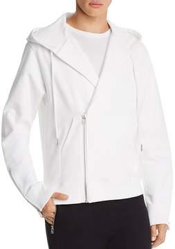 Helmut Lang Overlap Zip Hooded Sweatshirt