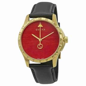 Gucci G-Timeless Coral Red Dial Men's Watch YA126464