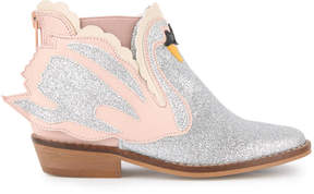 Stella McCartney Sequined Swan boots - Lily