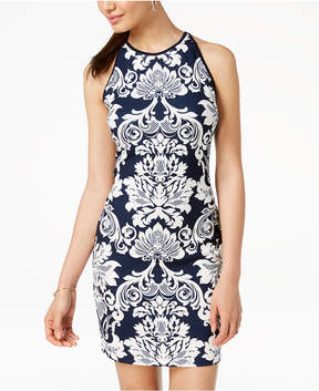 B. Darlin Juniors' Printed Sleeveless Bodycon Dress