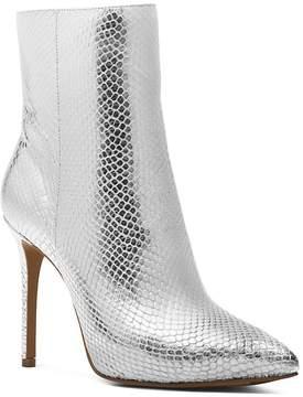 Michael Kors MICHAEL Women's Leona Embossed Leather High-Heel Booties
