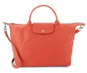 Longchamp Le Pliage Leather Handbag - MEDIUM RED - STYLE