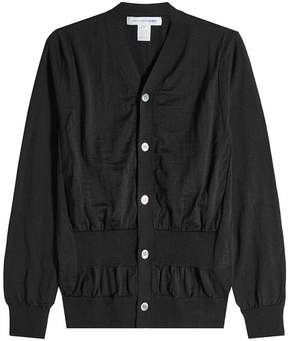 Comme des Garcons Wool Cardigan with Gathered Waist