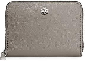Tory Burch Robinson Zip Around Coin Case- French Grey - ONE COLOR - STYLE