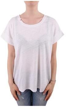 Sun 68 Women's White Linen T-shirt.