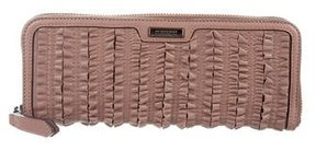 Burberry Ruffled Travel Wallet - PINK - STYLE