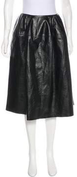 Celine Leather A-Line Skirt
