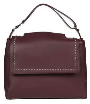 Orciani Women's Burgundy Leather Shoulder Bag.