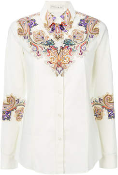 Etro long-sleeved printed shirt