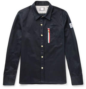 Moncler Gamme Bleu Contrast-Tipped Cotton-Twill Overshirt