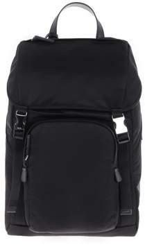 Prada Men's Black Polyamide Backpack.