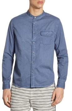 Madison Supply Striped Banded Collar Shirt