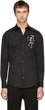Dolce & Gabbana Black King Skeleton Shirt