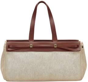 Hermes Herbag cloth handbag - BROWN - STYLE