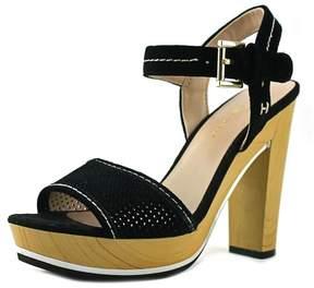 Tommy Hilfiger Weslee Women US 8.5 Black Platform Sandal