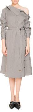 Altuzarra Albany Long-Sleeve Belted Pinstripe Midi Dress