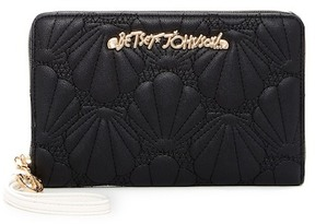 Betsey Johnson Shell Yeah Large Wristlet Wallet