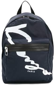Kenzo Men's Blue Polyester Backpack.