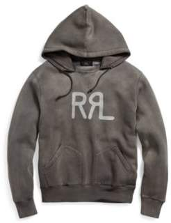 Ralph Lauren Cotton-Blend Graphic Hoodie Faded Black Xs