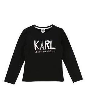 Karl Lagerfeld Eiffel Tower Graphic Tee, Size 6-10