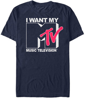 Fifth Sun Navy 'I Want My Music Television' Tee - Men
