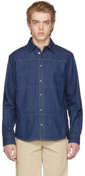 McQ Blue Denim Oddity Shirt