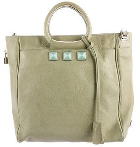 Marc Jacobs Leather Jeweled Tote - GREEN - STYLE