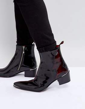 Jeffery West Sylvian Devil Detail Zip Boots In Black