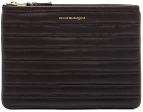 Comme Des Garcons Embossed Stitch Pouch