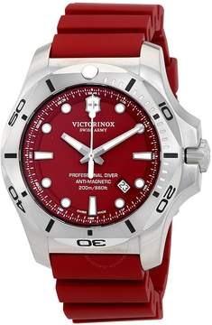 Victorinox I.N.O.X. Professional Diver Red Dial Rubber Men's Watch