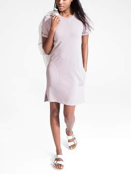 Athleta Uptempo Short Sleeve Sweatshirt Dress