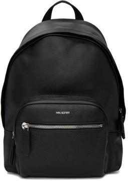Neil Barrett Black Leather Flap Backpack